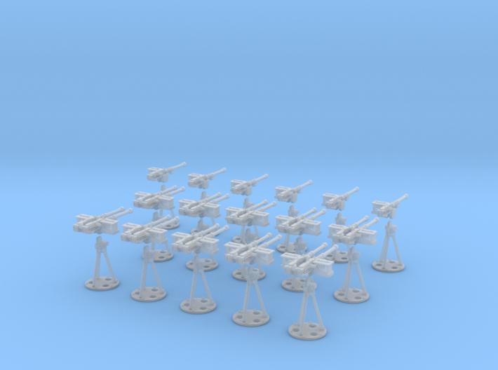 1-87 Cal 50 Modern Naval Mount Set1 3d printed