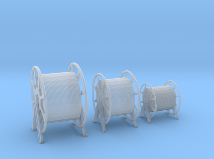 1/100 DKM Hauser Rope Barrels SET 3d printed