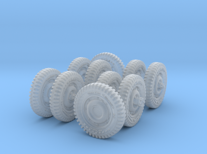 1-72 Military 600x16 Tire Set2 3d printed