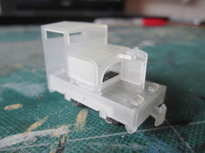 N102A - 009 20hp Simplex - Cab 1 - World craft 3d printed As the print comes, dropped onto the chassis.