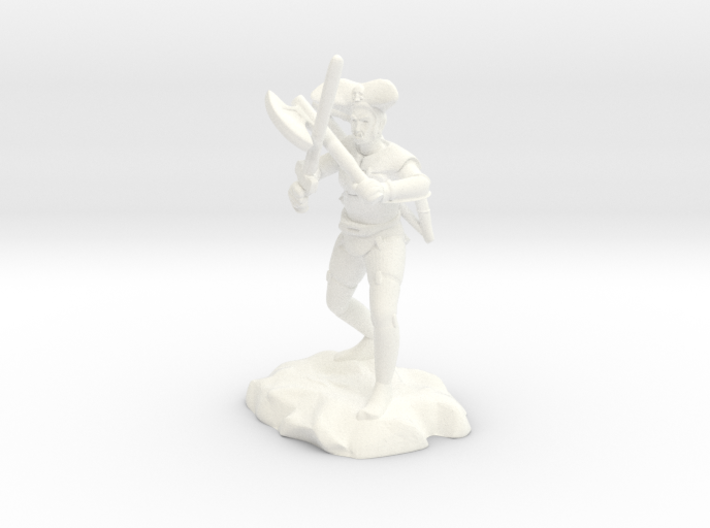 Argrunt the Half Orc Ranger Pirate 3d printed