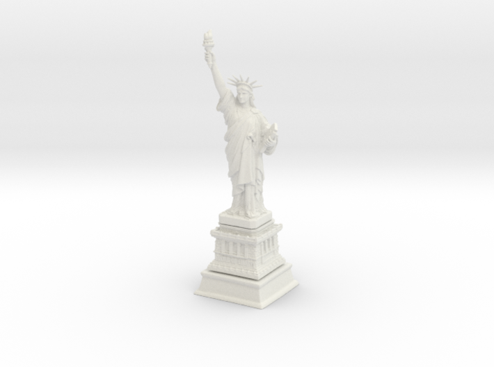 1/1000 Statute Of Liberty (3 parts) 3d printed