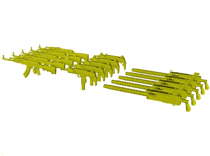 1/48 scale rifles collection B pack x 15 3d printed