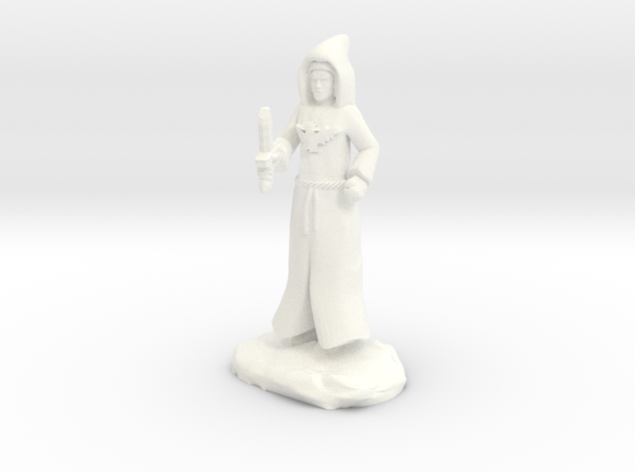 Dracandros, a human dragon cultist with Dagger 3d printed