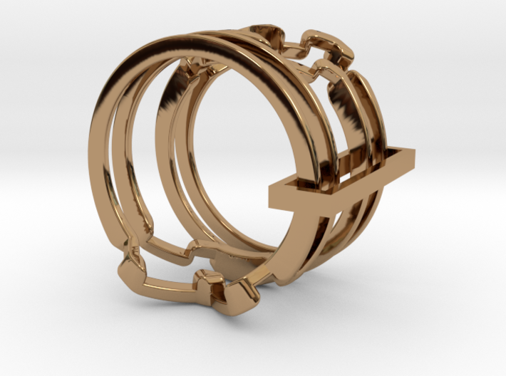 Fall Apart Ring metal 3d printed