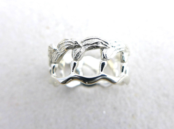 Kelp Ring - Nature Jewelry 3d printed
