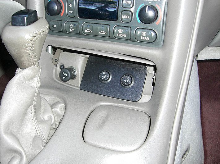 C5 Corvette Ashtray Switch Panel W/Holes 3d printed C5 Corvette Ashtray switch plate with holes for Rostra Seat Heater switches.