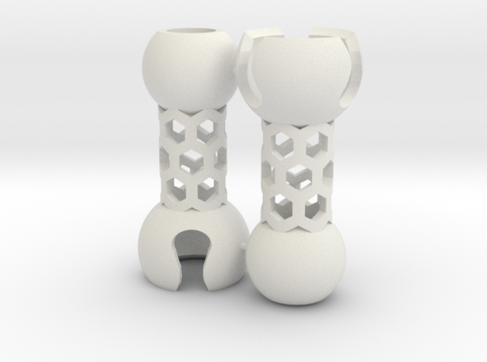 2 Small Popcorn Jointed-Tubes (Sprued) 3d printed