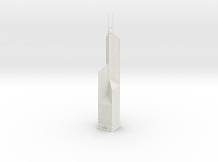 Bank of China Tower (1:2000) 3d printed