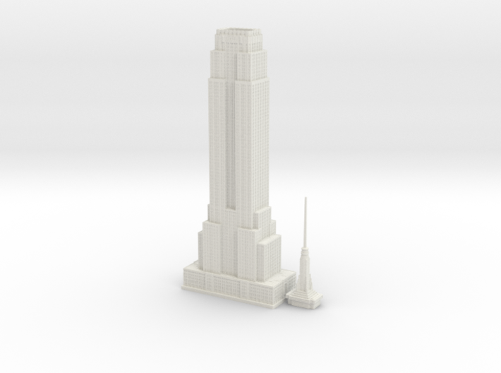 Empire State Building (1:2000) 3d printed
