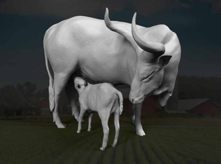 Ankole-Watusi 1:32 Mother and Calf 3d printed