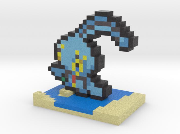 Pokemon Manaphy Pixel Art 3d printed