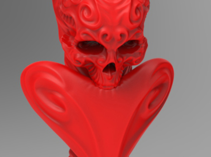 """BeMine"" Valentine Flower Vase  3d printed (as the piece may appear in Coral Red Strong & Flexible)"
