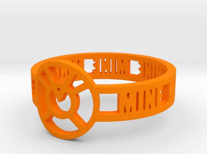 Orange Lantern Oath Ring 3d printed