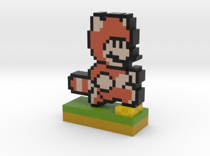 Mario Tanooki Suit PIxel Art 3d printed