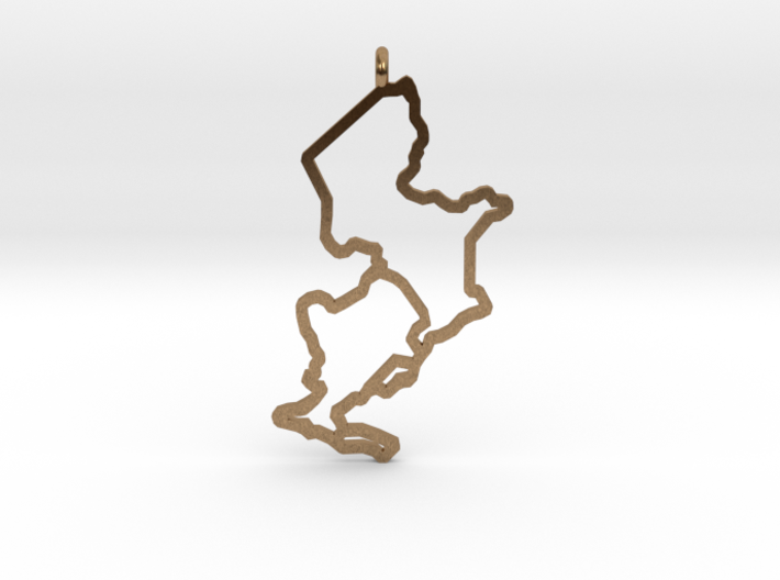 Ijsselmeer Nautical Chart Pendant 3d printed