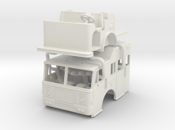1/87 1993 Seagrave Raised Roof 3d printed
