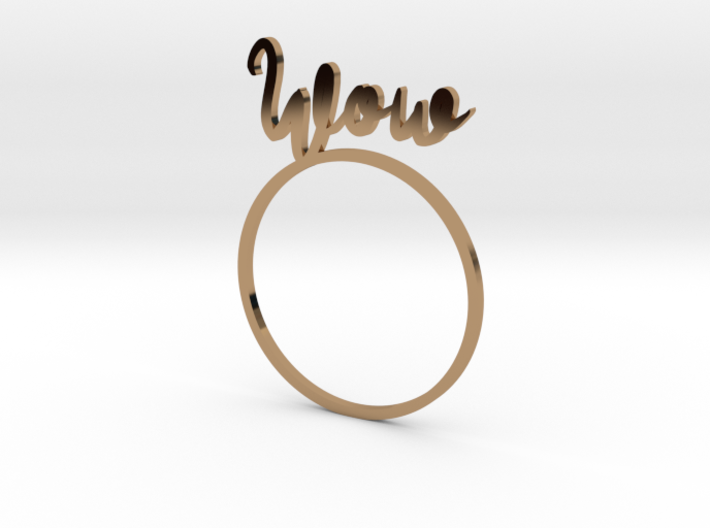 WOW [LetteRing® Serie] 3d printed