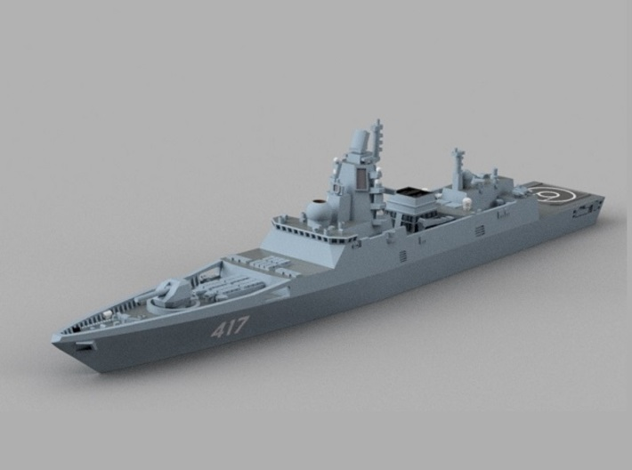 1/900 RFS Admiral Gorshkov-class frigate 3d printed Computer software render.The actual model is not full color.