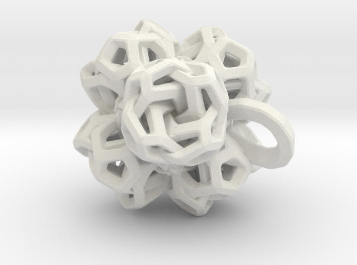 Pendant flower 2 3d printed