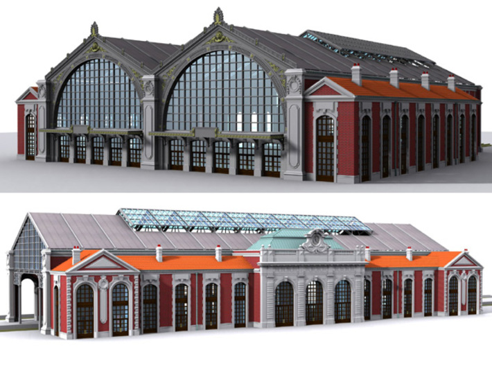 NGG-BVH01c - Large modular train station 3d printed