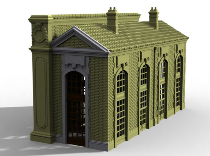 NGG-BVA02dg - Large Railway Station 3d printed