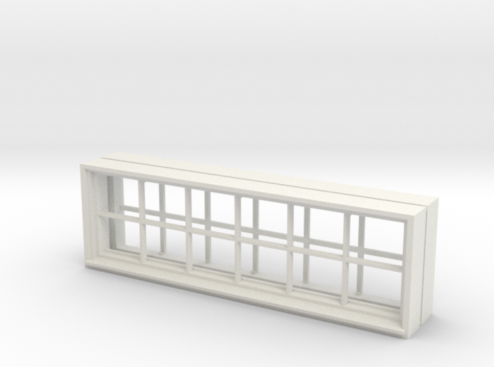 Window, 96in X 30in, 12 Panes, x2 3d printed