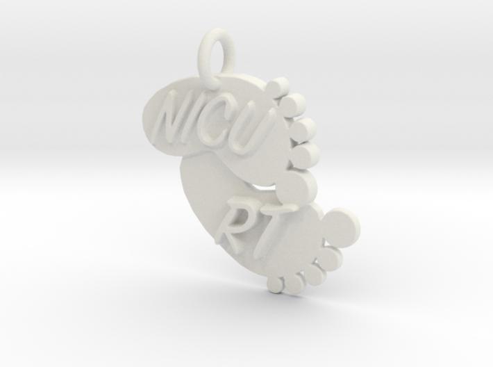 NICU RT Foot Print Keychain 3d printed