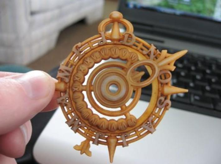 Nocturnal Watch ($18) 3d printed This is the nocturnal printed in the White Detail material, then soaked in a cup of cold strong tea overnight, and dried and buffed with a paper napkin. I love the extra definition the tea stain gives the details, and the aged look it provides!