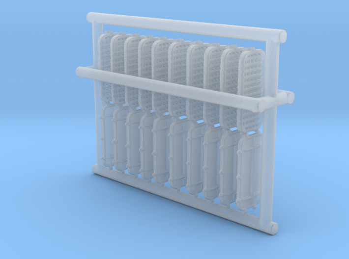 1/96 DKM Port Rectangle v2a Vent Grate Set 3d printed