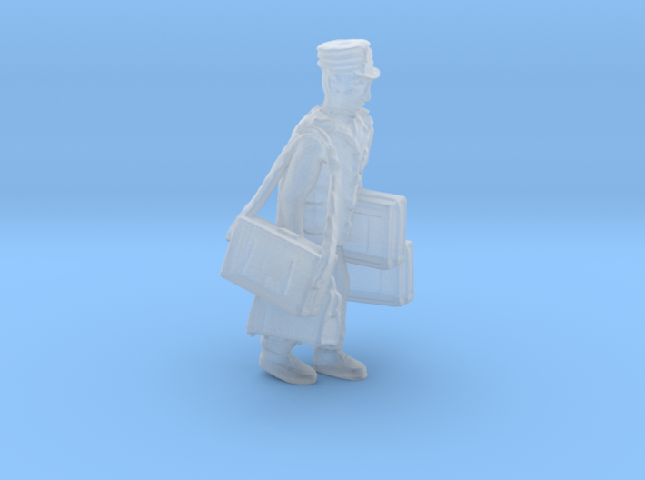 HO Railroad Porter LOADED w Luggage Figure 3d printed HO scale Railroad Porter with alot of luggage