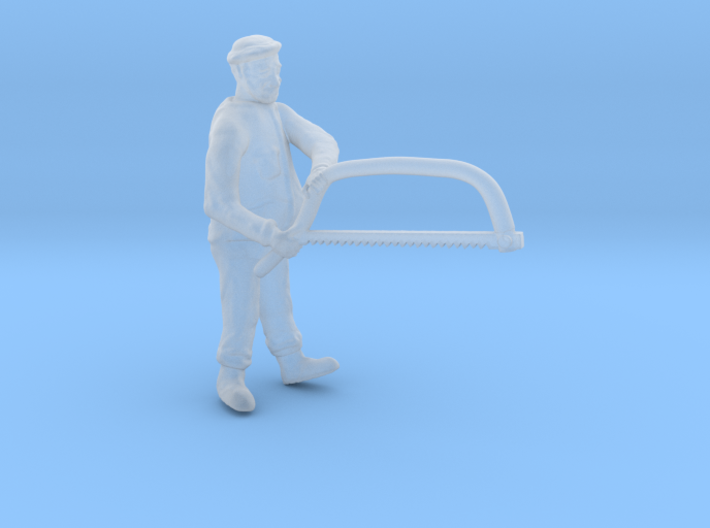 HO Logging Bucker sawing w BOW SAW Figure 3d printed