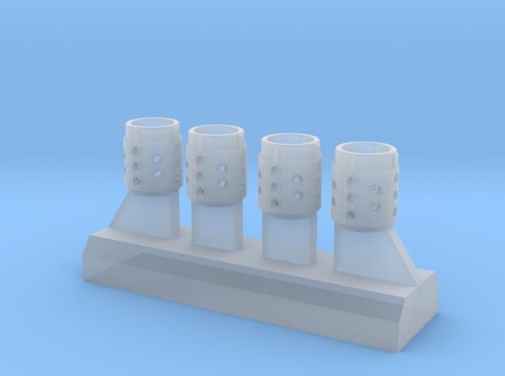 Rhino Exhausts 3d printed