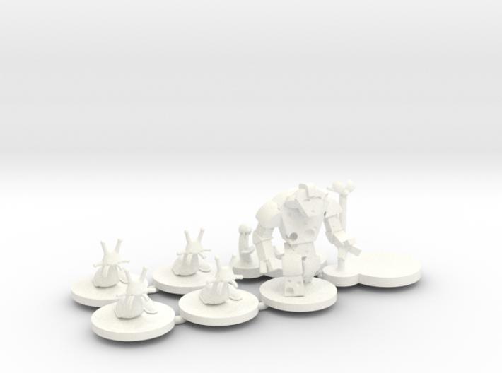 M&M minis sprued - WSF & Acrylic (7 pcs) 3d printed