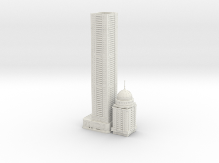 Princess Tower (1:2000) 3d printed