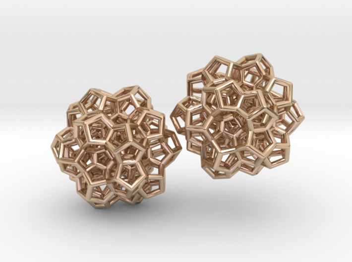 120-cell (partial) earrings 3d printed