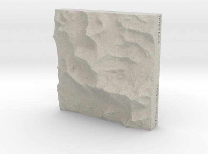 3''/7.5cm Mt. Everest, China/Tibet, Sandstone 3d printed