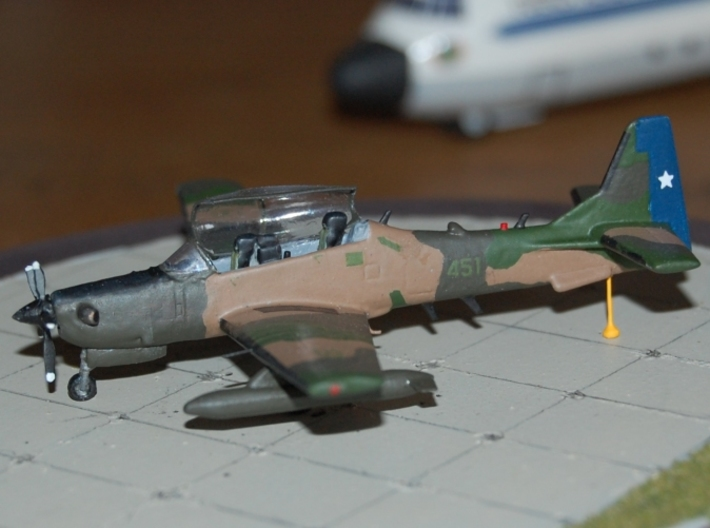 003C Super Tucano 1/144 FD/FUD 3d printed Super Tucano in Chilean markings. Model and photos from Michel Anciaux.