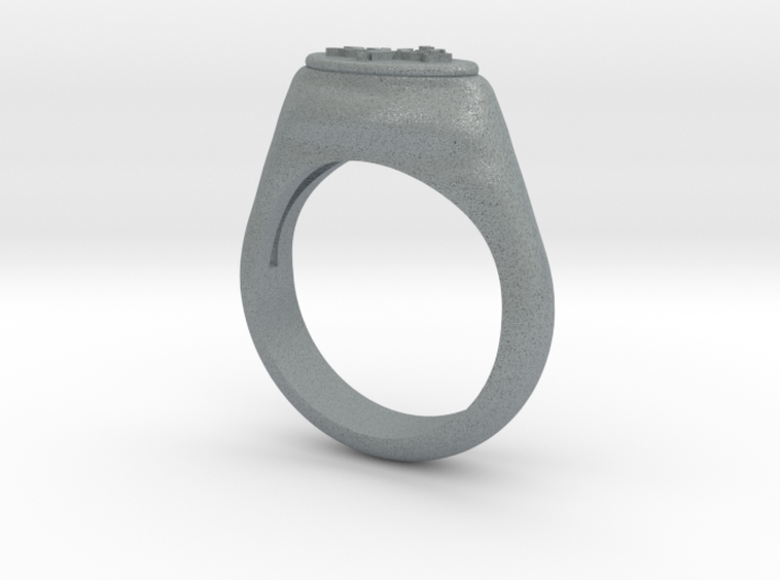Flower Stamp Ring 3d printed