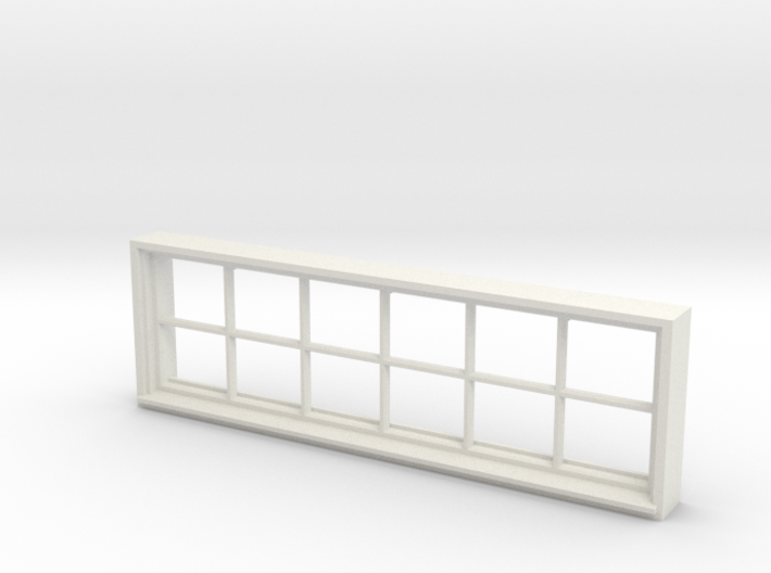 Window, 96in X 30in, 12 Panes, 1/32 Scale 3d printed