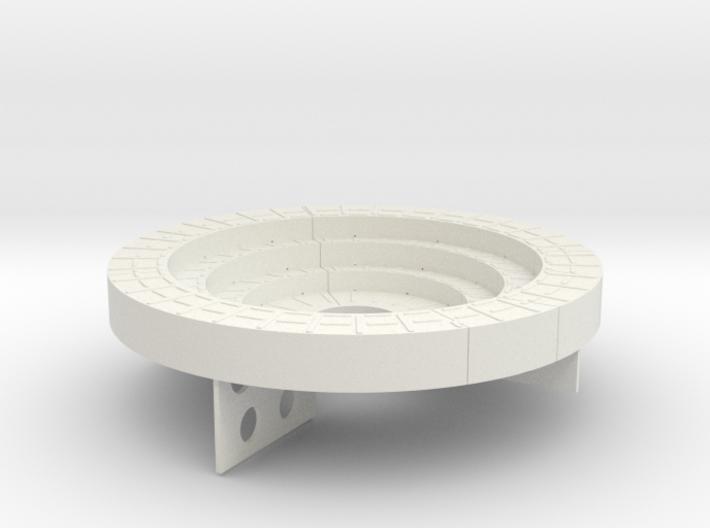 Vosper Twin Oerlikon Pedestal 1/32 Scale 3d printed
