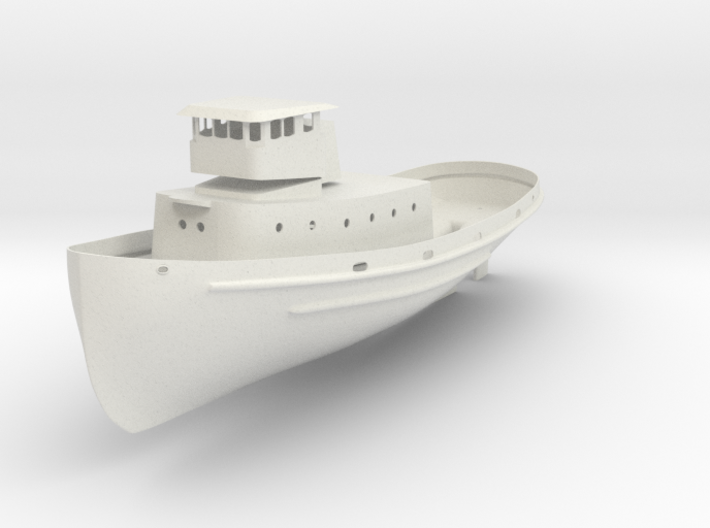 1/96 scale YTB Tugboat - Hull, Rudder, and structu 3d printed