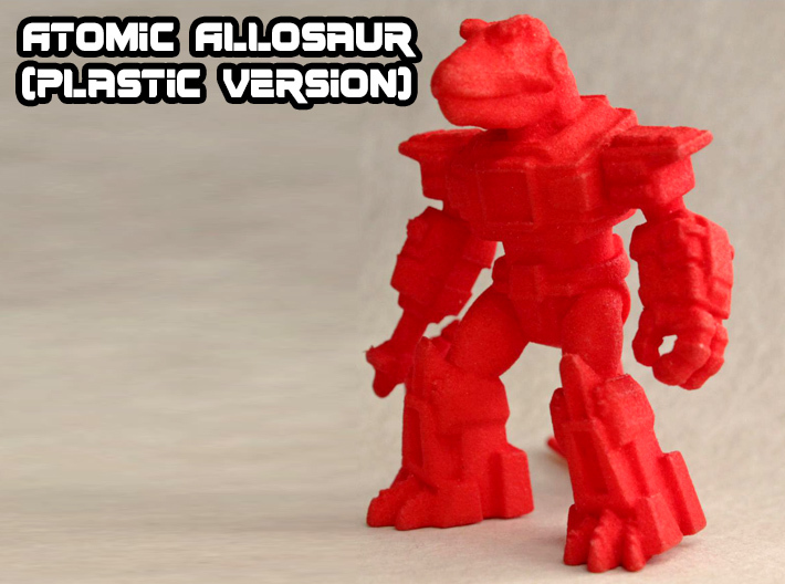 Atomic Allosaur 3d printed