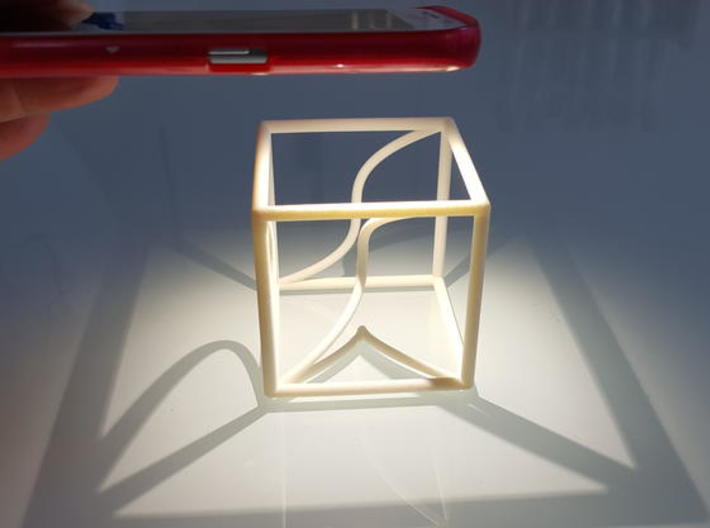 Space Curve and Projections, with Cusp 3d printed