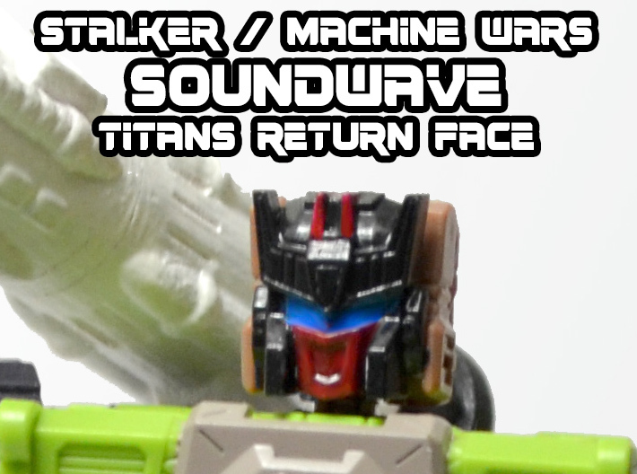 Stalker / MW Soundwave Face (Titans Return) 3d printed Hand Painted Black Acrylate Print