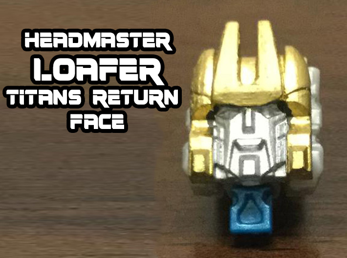 Loafer Faceplate (Titans Return) 3d printed Hand painted Frosted Ultra Detail Print