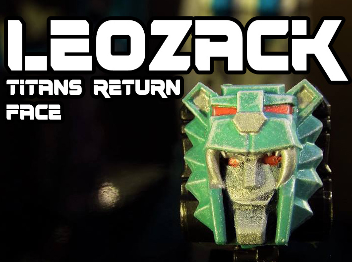 Leozack Faceplate (Titans Return) 3d printed Hand painted frosted ultra detail