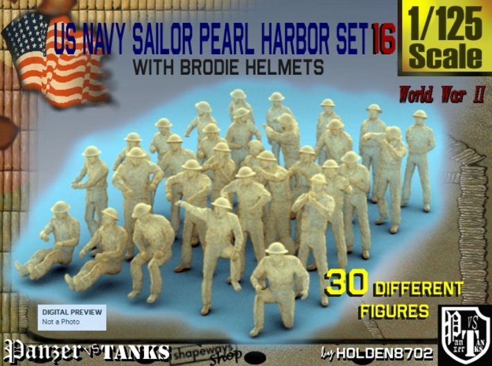 1-125 US Navy Pearl Harbor Set 16 3d printed