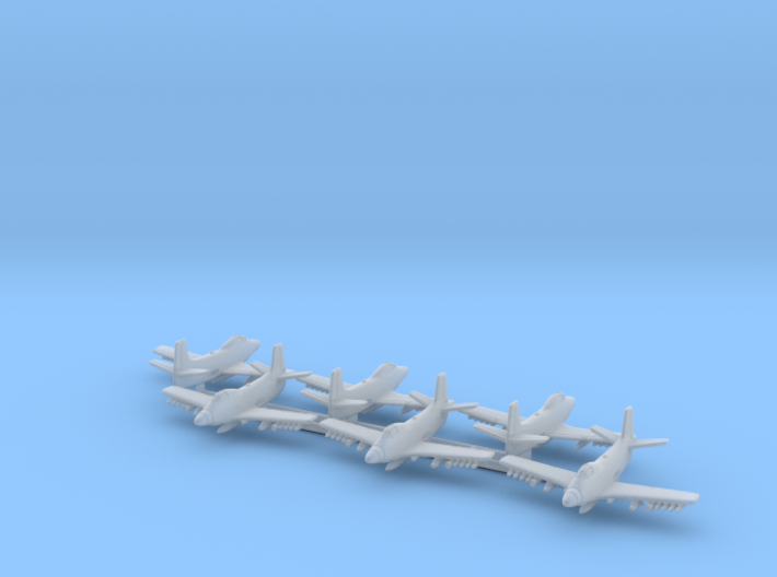 Douglas A2D Skyshark 1/700 3d printed