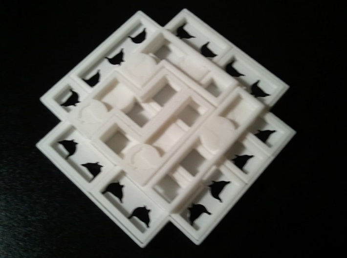 Ptarmigan Three Layer Puzzle 3d printed The Solution